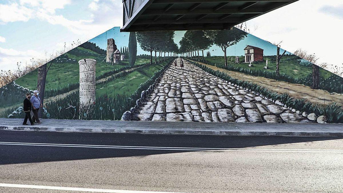 La Vía de la Plata, en un mural de Pinilla.