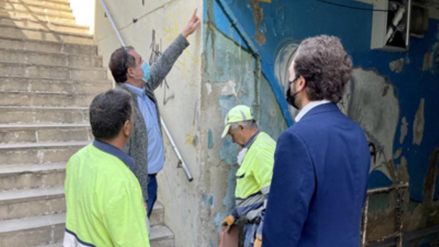 El paso subterráneo de Monzón renovará su imagen y mejorará la iluminación