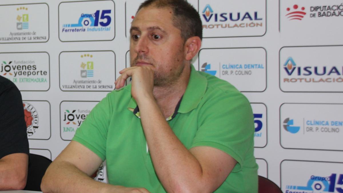 Francis Bordallo, la pasada semana en su despedida del Villanovense.
