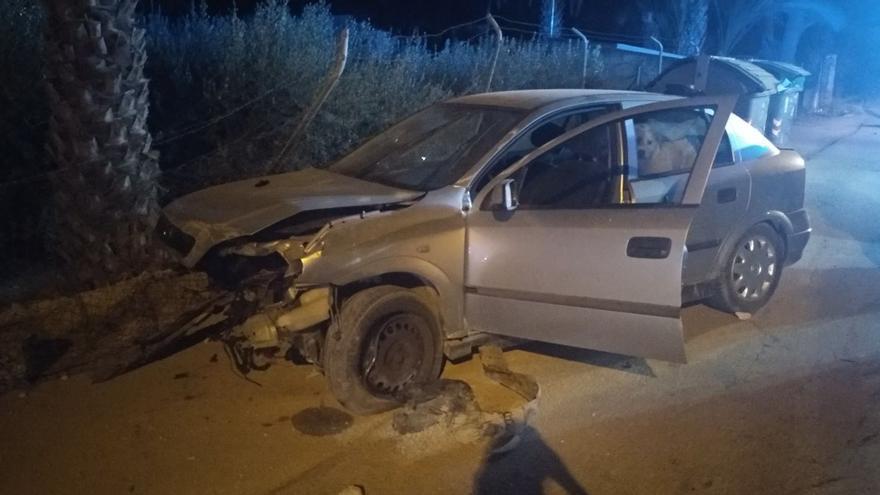 Se estrella cuando conducía borracho con su perro a bordo en Murcia