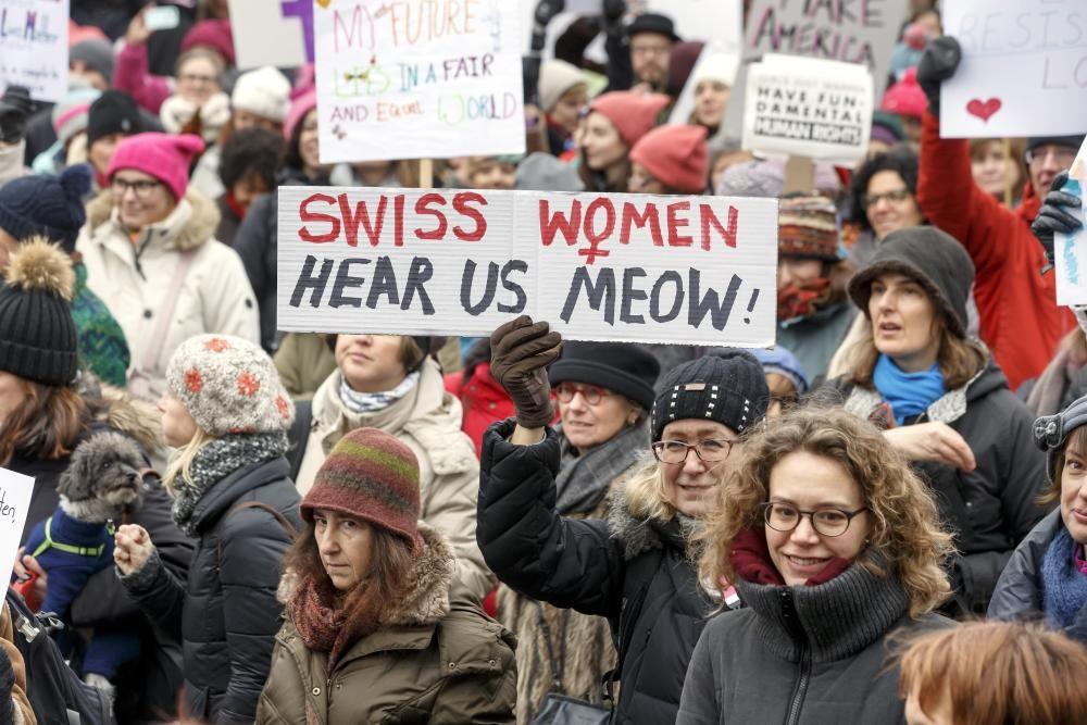 Protestas contra Donald Trump en Suiza