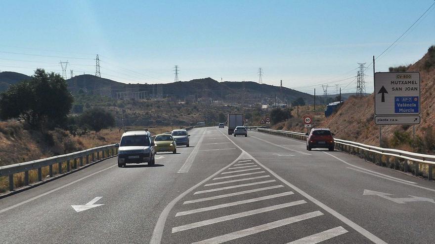 La Generalitat desbloquea la ampliación de la carretera entre Xixona y Mutxamel