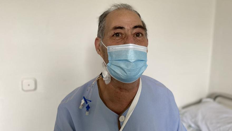 Juan Caracuel paciente trasplantado de corazón en el Reina Sofía tras estar conectado a corazón artificial