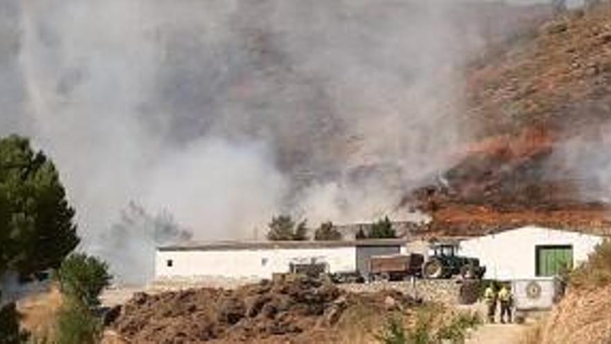 Despliegue aéreo para extinguir dos incendios en Náquera y Casas Bajas