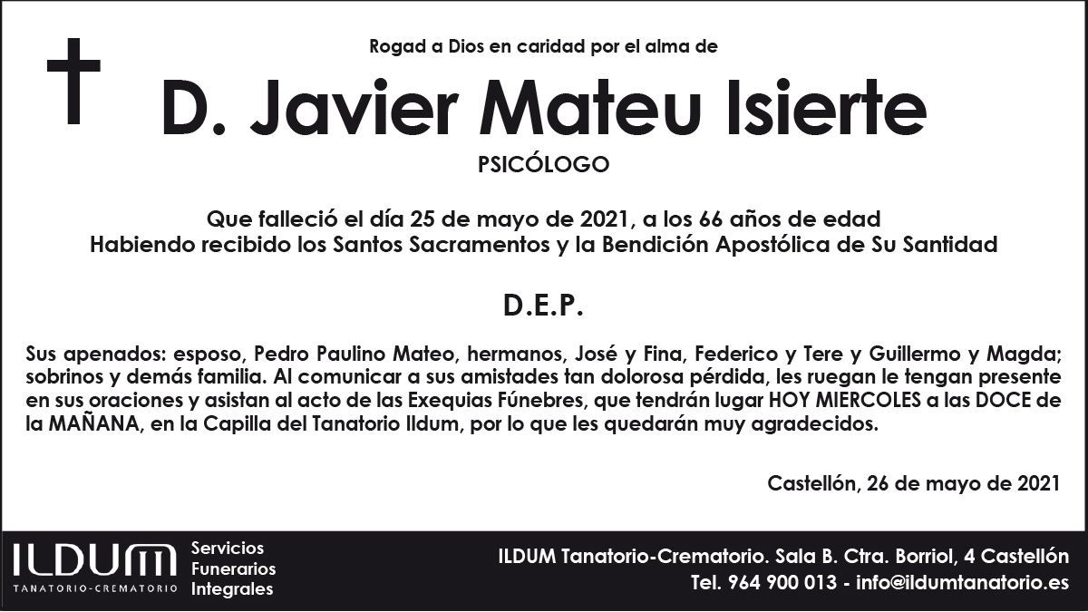 D. Javier Mateu Isierte