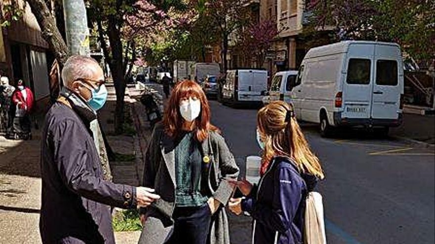 Es reordena un tram del carrer Joan Maragall per donar més espai als vianants