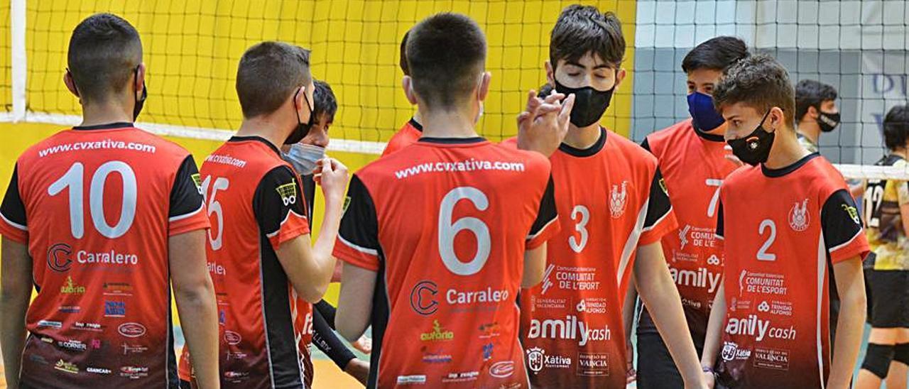 Los jugadores del cadete Xàtiva 2 que venció al Paterna | FIRMA FOTÓGRAFO