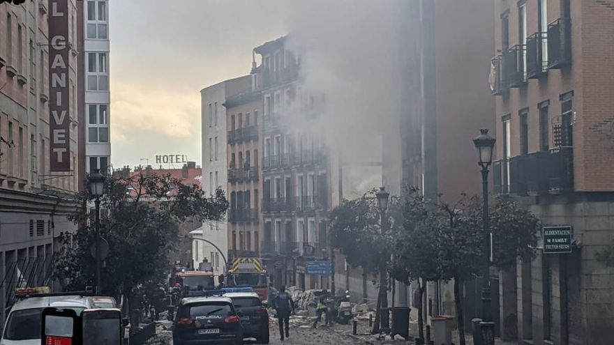 Las imágenes de la violenta explosión en Puerta de Toledo