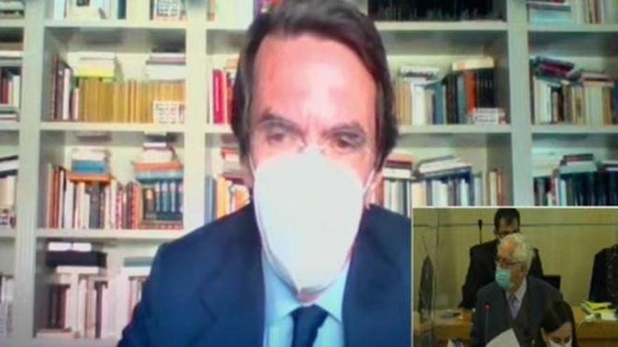 """Aznar nega haver cobrat sobresous i que no ha conegut """"cap comptabilitat B al PP"""""""