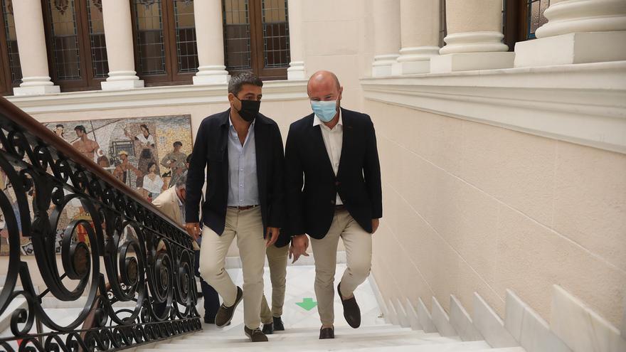 Carlos Mazón se alía con Toni Gaspar para exigir cambios en el Fondo de Cooperación