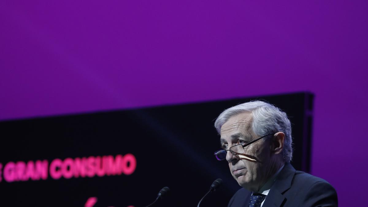 Javier Campo, presidente de AECOC, durante su intervención en el congreso.