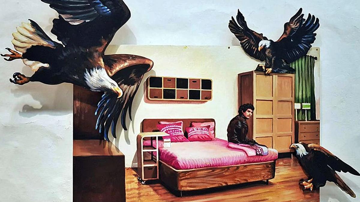 Dos de las piezas seleccionadas: 'Somebody is watching me', de Martín y Sicilia, y 'Detrás del fuego', de Joaquín Artime. | | EL DÍA