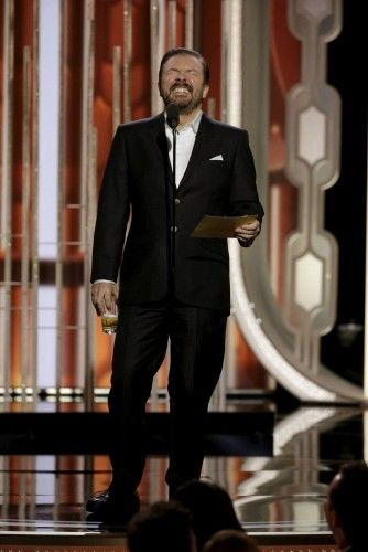 Handout of Gervais hosting the 73rd Golden Globe Awards in Beverly Hills
