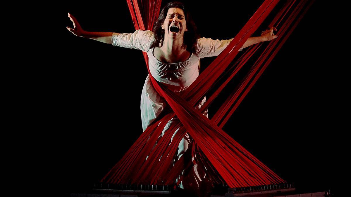 Laia Marull, en una representación teatral.