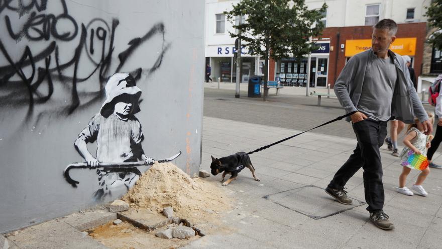 Aparecen en el este de Inglaterra varias obras supuestamente de Banksy