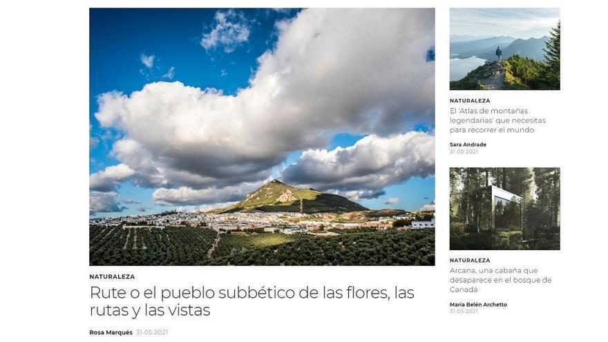 La revista Traveler recoge en un reportaje los atractivos de Rute