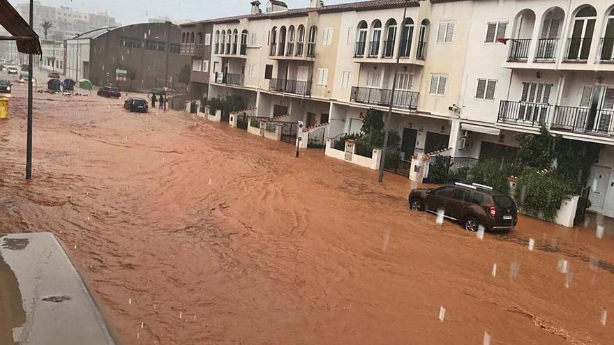Los barrancos causan  cuatro inundaciones en Alzira en solo 2 años