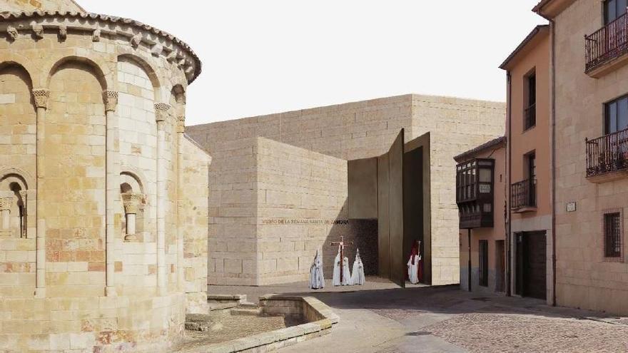 Aspecto que tendrá el nuevo Museo de Semana Santa de Zamora.
