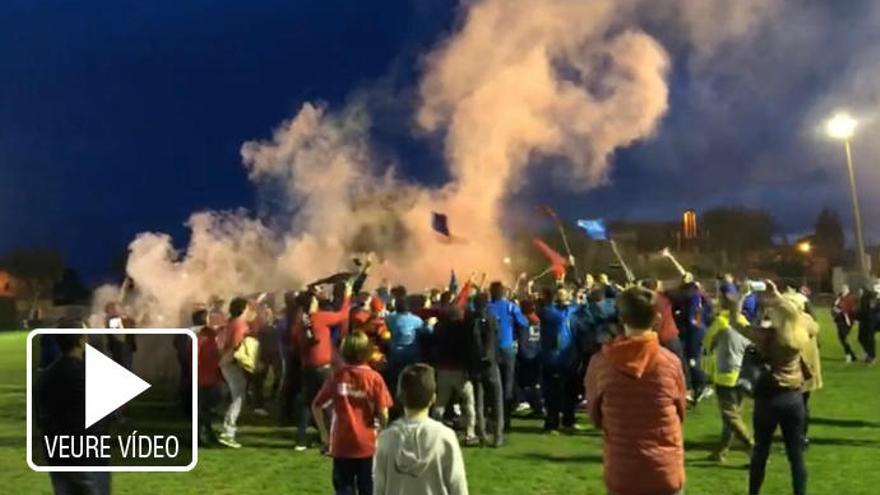 Vuitanta aficionats van convertir el Borrassà - Sant Pere en una festa