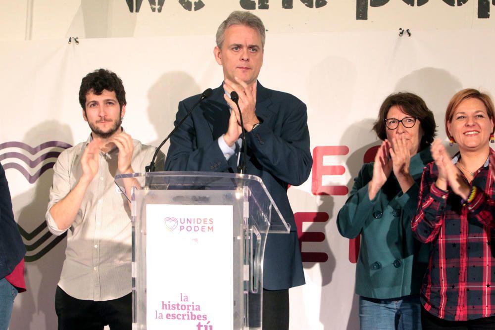 La noche electoral en la sede de los partidos