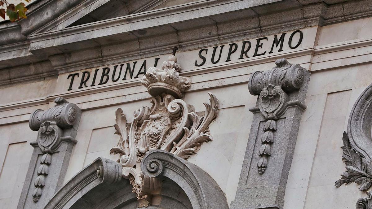Fachada del Tribunal Supremo. | | EUROPA PRESS.