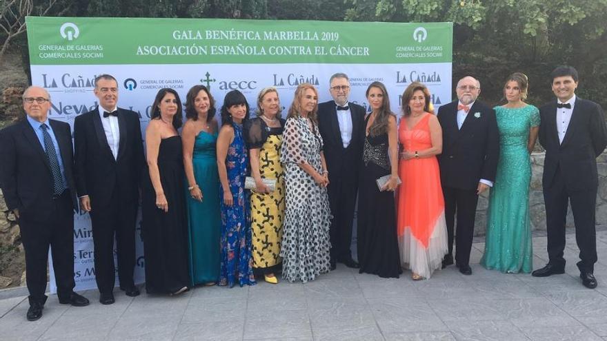 Cena de gala de la Asociación Española Contra el Cáncer en Marbella