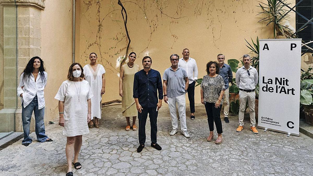 Los organizadores, ayer, en la presentación de la nueva edición de la Nit de l'Art.