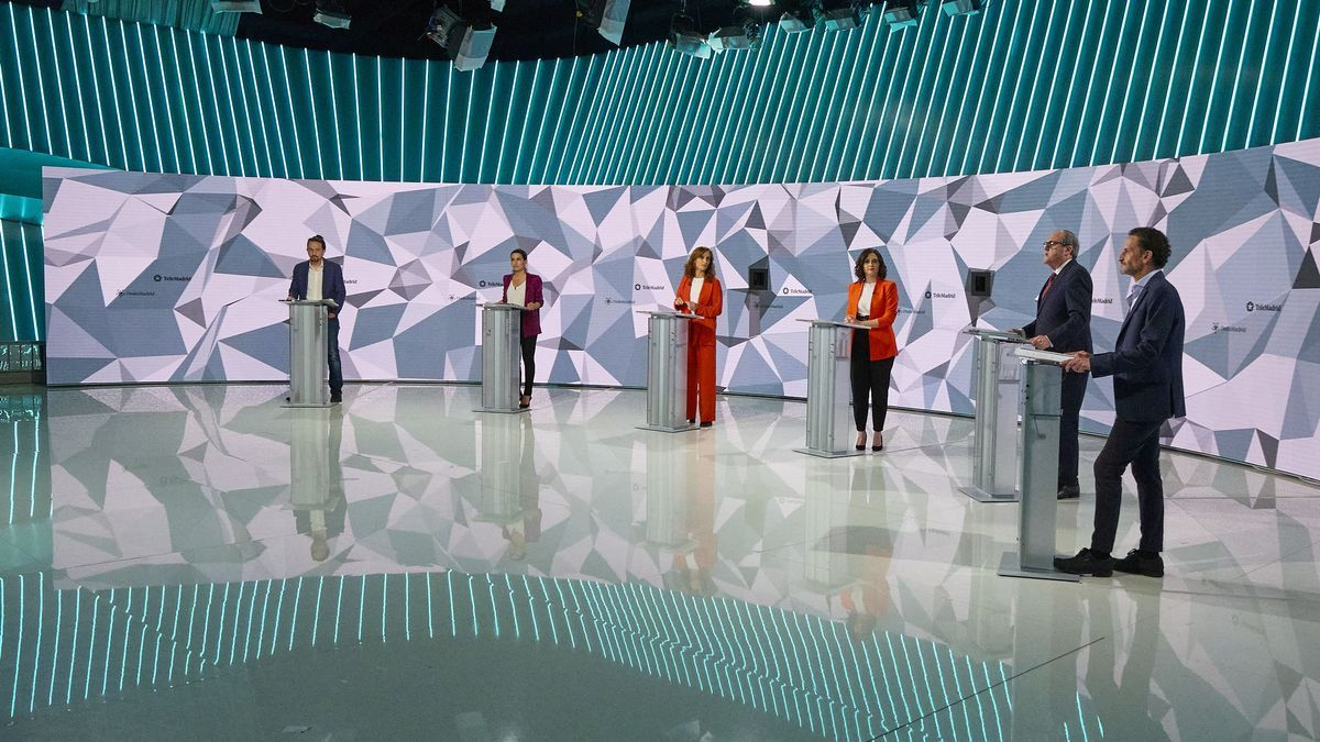 Un momento del debate electoral en Telemadrid.