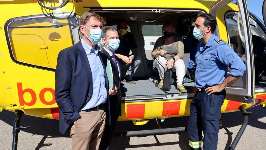 El nou helicòpter de rescat medicalitzat de la Seu