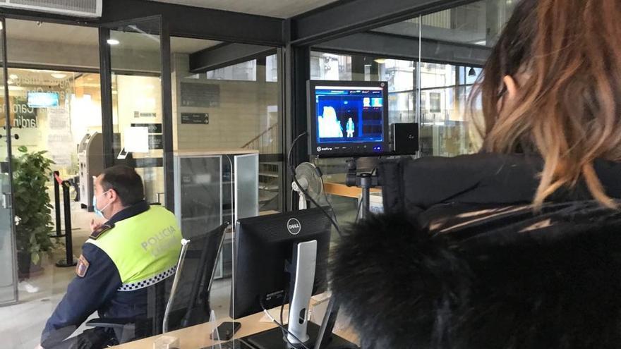 Cámaras termográficas en las dependencias municipales para luchar frente al covid en Alicante