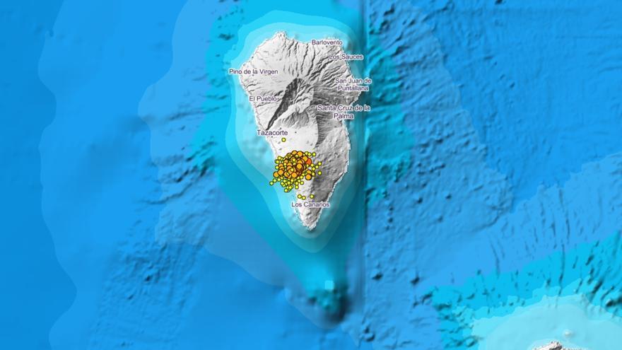 Continúa disminuyendo la sismicidad en La Palma y registra 17 sismos durante la noche