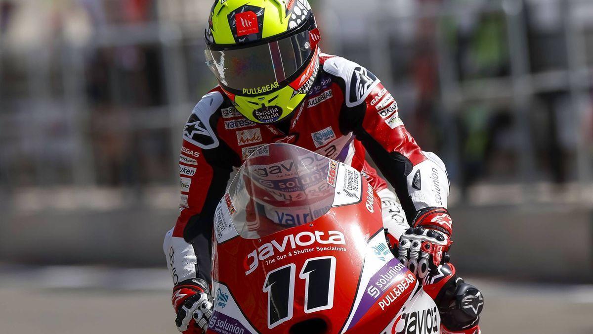 Sergio García Dols, piloto de Moto3, en Qatar.