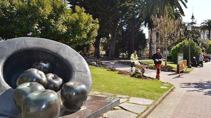 Villaviciosa inicia el proyecto de mejora del parque de la Ballina, catalogado como jardín histórico