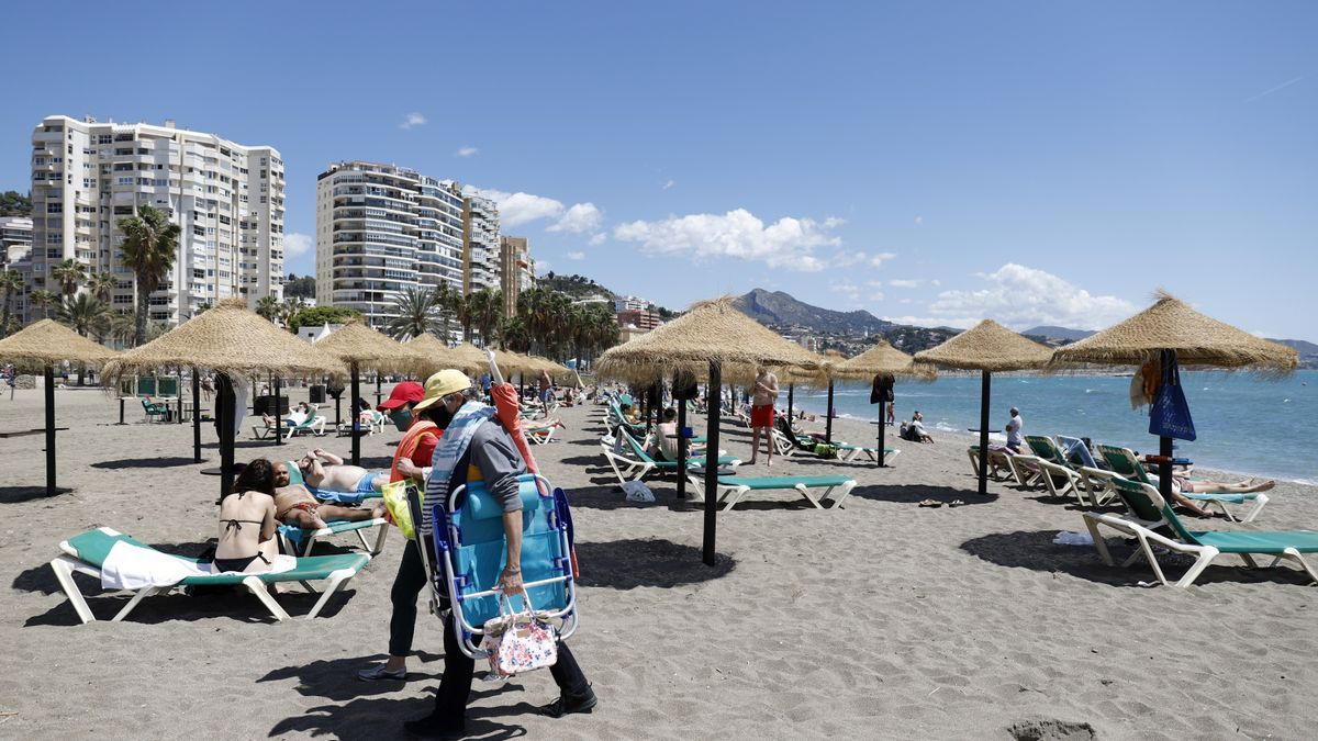 Playa de La Malagueta, en la capital