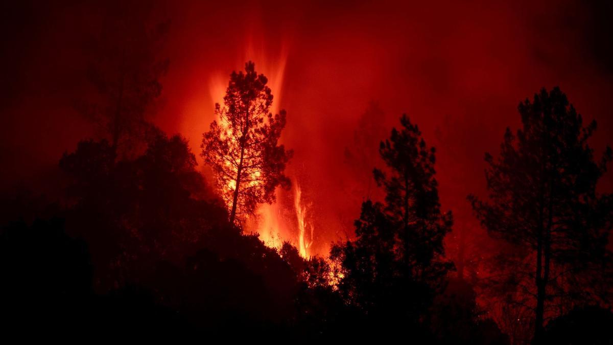 Último incendio en la Ribeira Sacra que superó las 1.700 hectáreas.