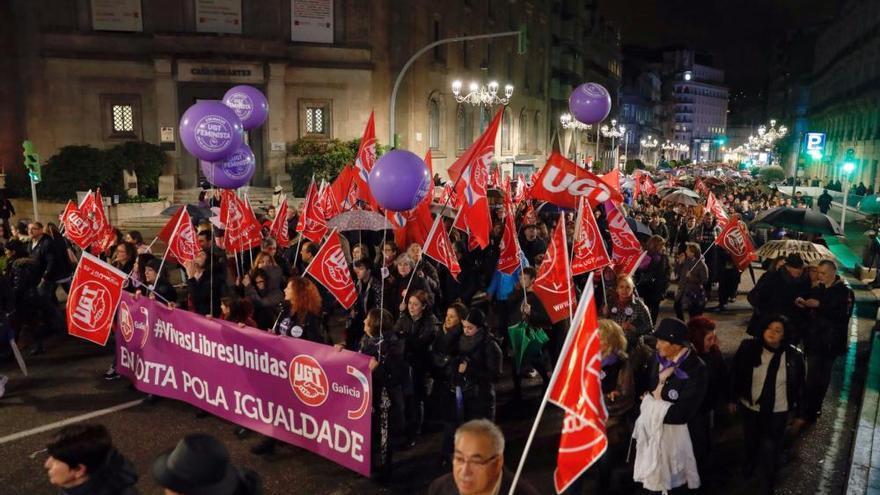 Manifestación del 8-M en Vigo