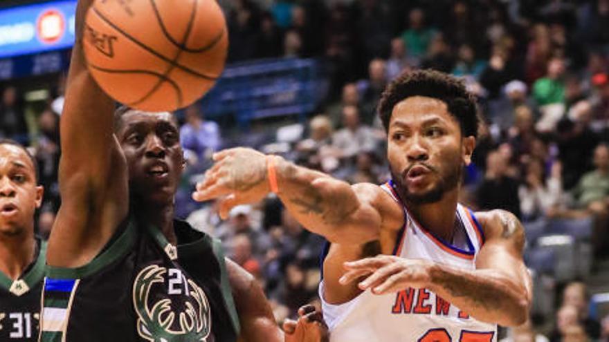Derrick Rose deja plantados a los Knicks antes de un partido