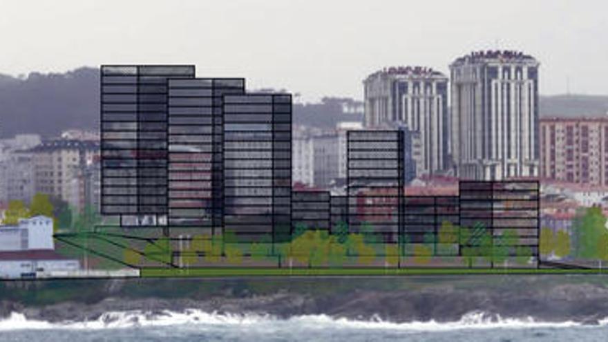 Los promotores de As Percebeiras proyectan edificios de hasta 16 plantas frente al mar