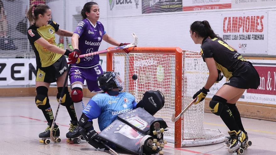 Semifinales de la Euroliga de hockey sobre patines: Tres goles en dos minutos acaban con el sueño de un luchador Telecable Gijón