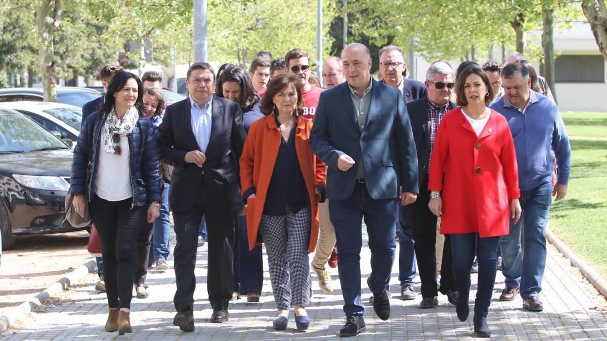 Carmen Calvo y Luis Planas participan en un acto público del PSOE de Córdoba