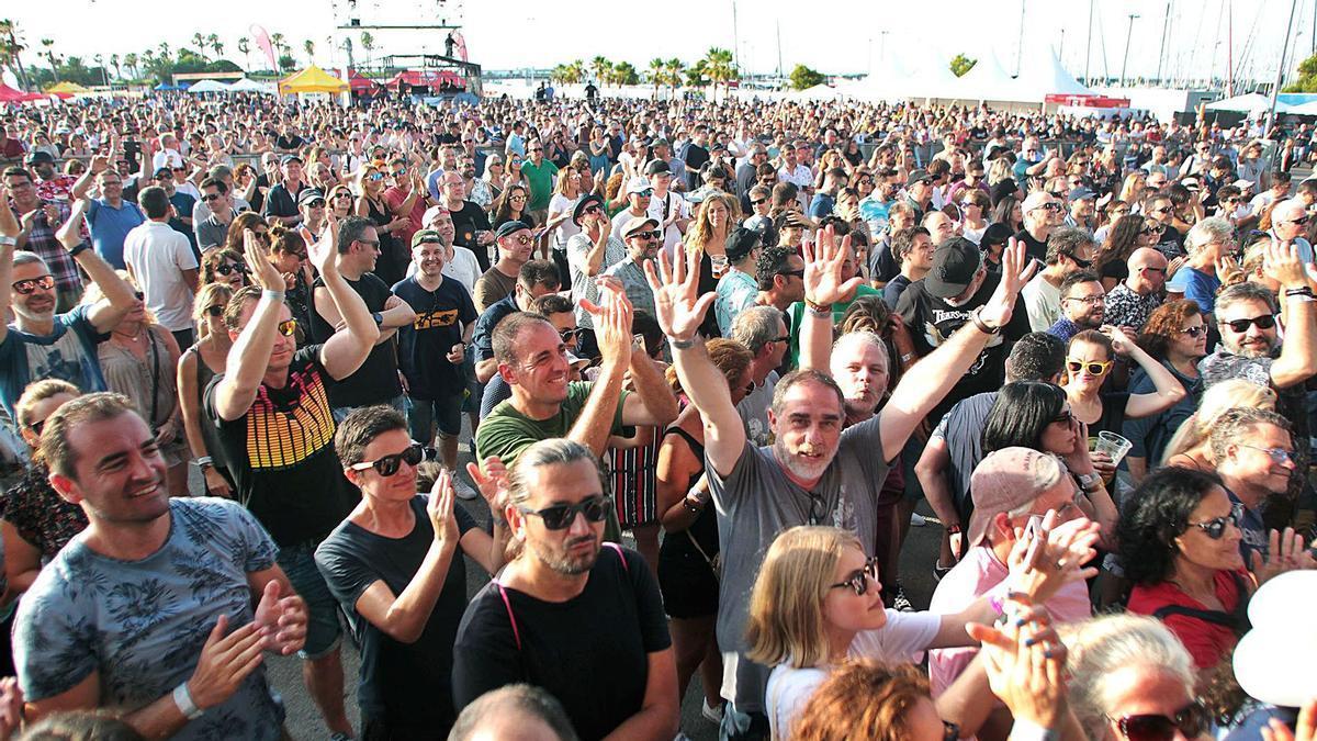 Festival musical celebrado en la Marina de València en julio de 2019.   MAO