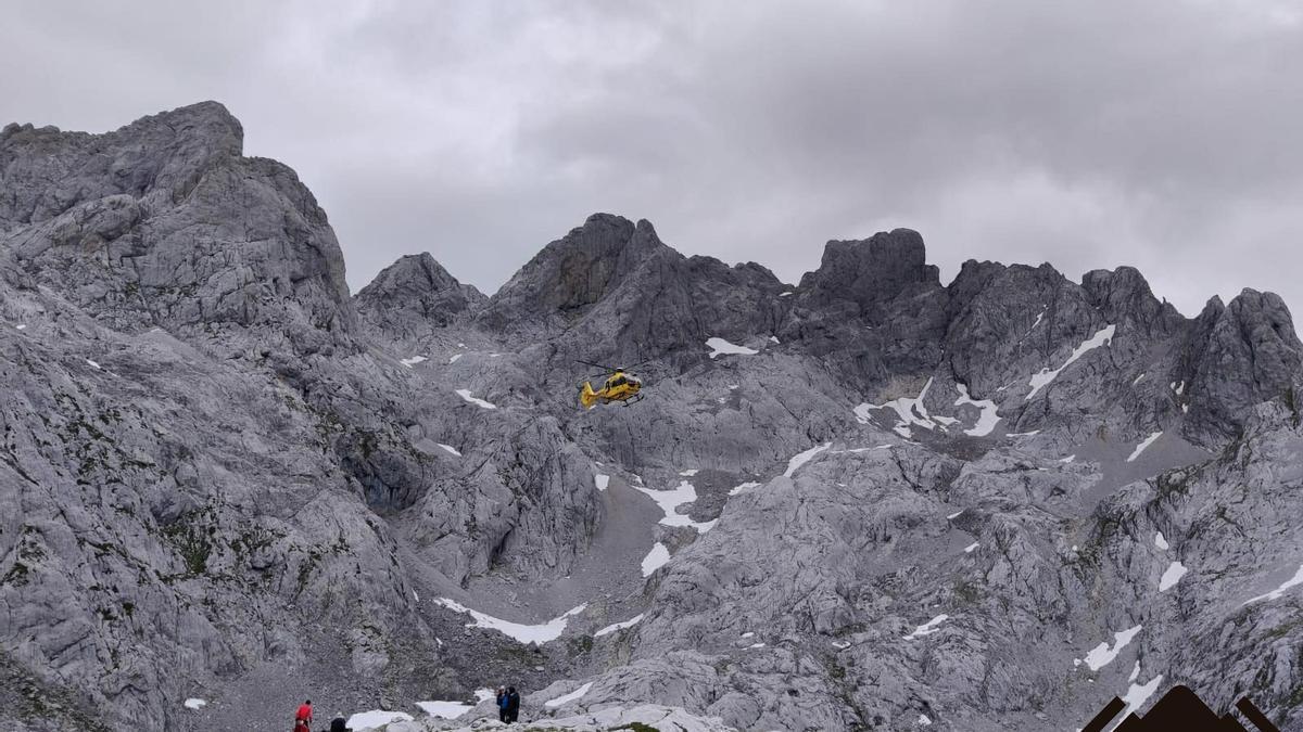 El rescate de montaña en Amieva.