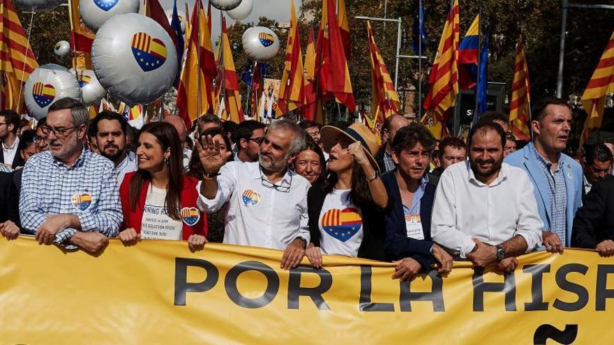 PP, Cs y Vox acuden a la manifestación de Barcelona por la unidad de España