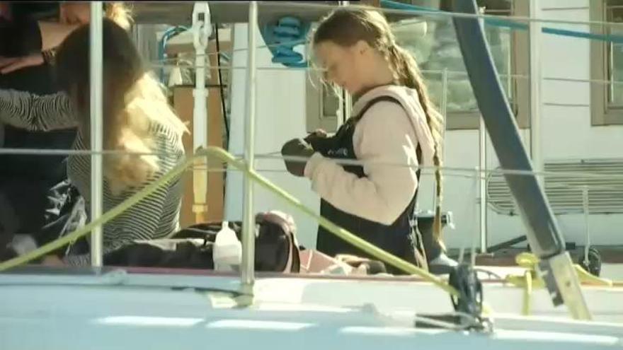Greta Thunberg arriba a Lisboa després de 20 dies en vaixell