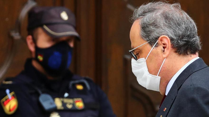 """Torra tilda de """"necio"""" a Sánchez por acusarle de judicializar el procés"""