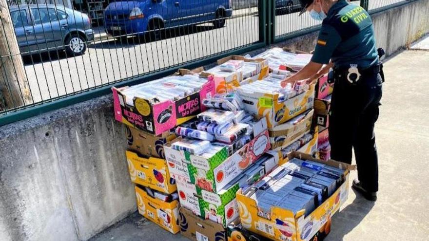 Incautan 3.200 prendas falsificadas en Xinzo de Limia