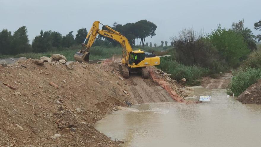 La CHS asegura que las obras del cauce en Almoradí no suponen un riesgo para la población
