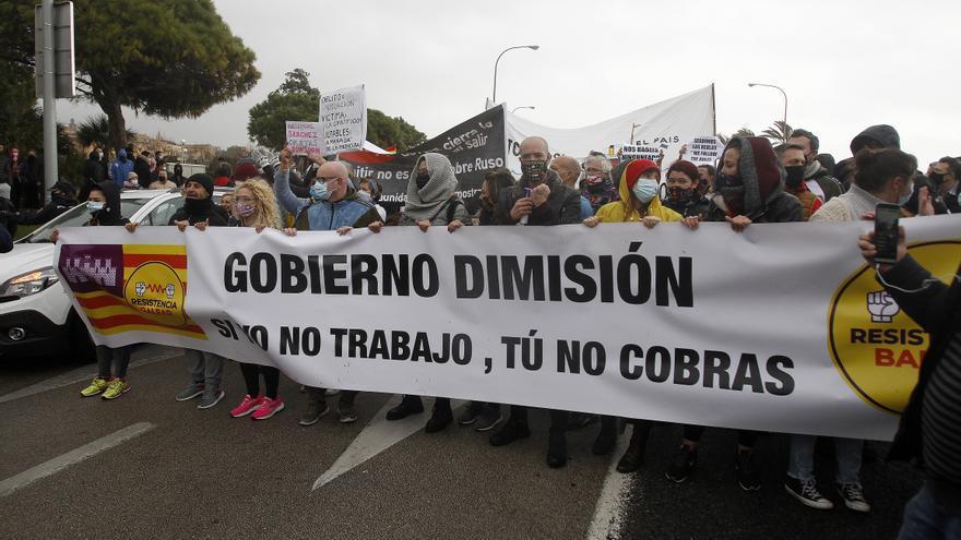 """Resistencia Balear afirma que """"si el Govern no anuncia el martes la apertura de la restauración volveremos a manifestarnos"""""""