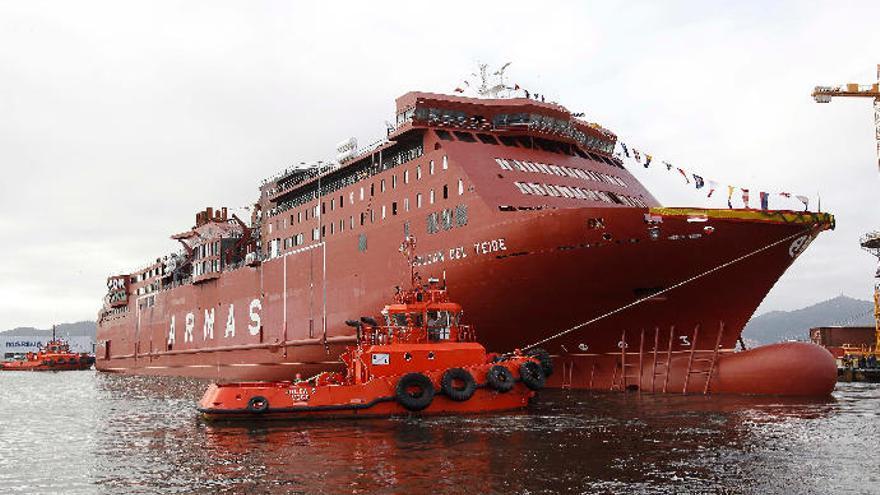 La crisis del astillero Barreras deja en el aire el nuevo ferri de Armas