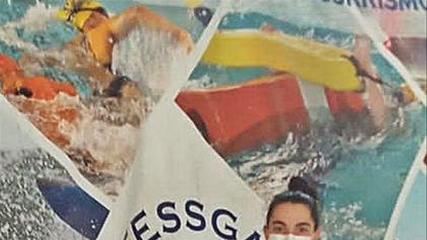 Eva Feijóo y Roi Naranjo, triples medallistas en el autonómico de salvamento